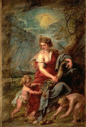 Allegorical depiction of the Roman goddess Abu...