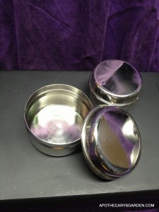 Stainless Steel tins for Mustache Wax-1oz. & 2 oz. $2.00 each