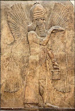 Sumerian/Babylonian Genie offering blessings