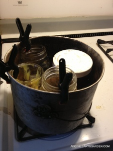 Mustache wax recipe in double boiler.