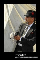 The Impaler- Carnivale Lune Blue, Bromont Quebec 2010. Break time by the Big Top. (Have quit the nasty habit since).