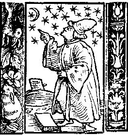 Astrologer working by the stars