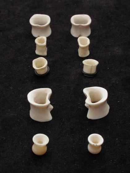 Lamb bone tunnels-Body jewellry