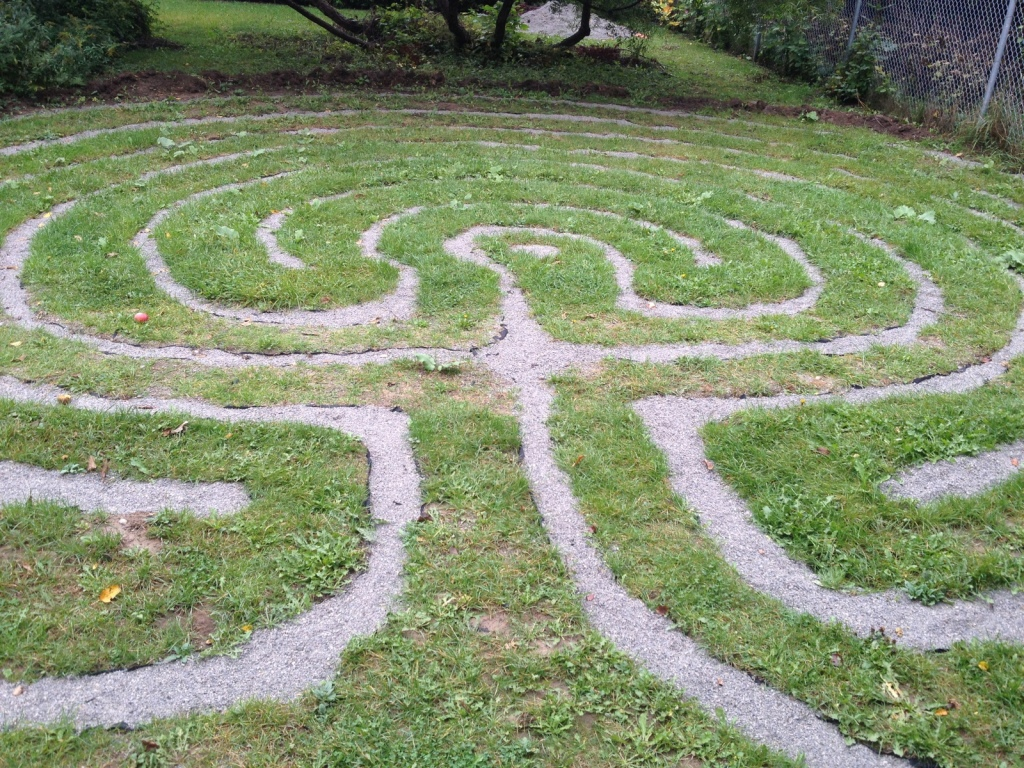 Not quite winter, our Labyrinth is ready to sleep and regenerate.