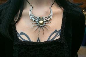 Winged Sun Necklace. Horseshoe nail Jewellry-Dan Riegler-1999?, Horseshoe nails and brass