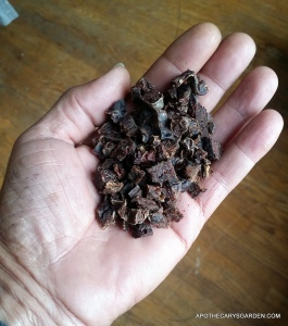 Castor sacs Grade1 aged 1year+, coarsley diced for tincture